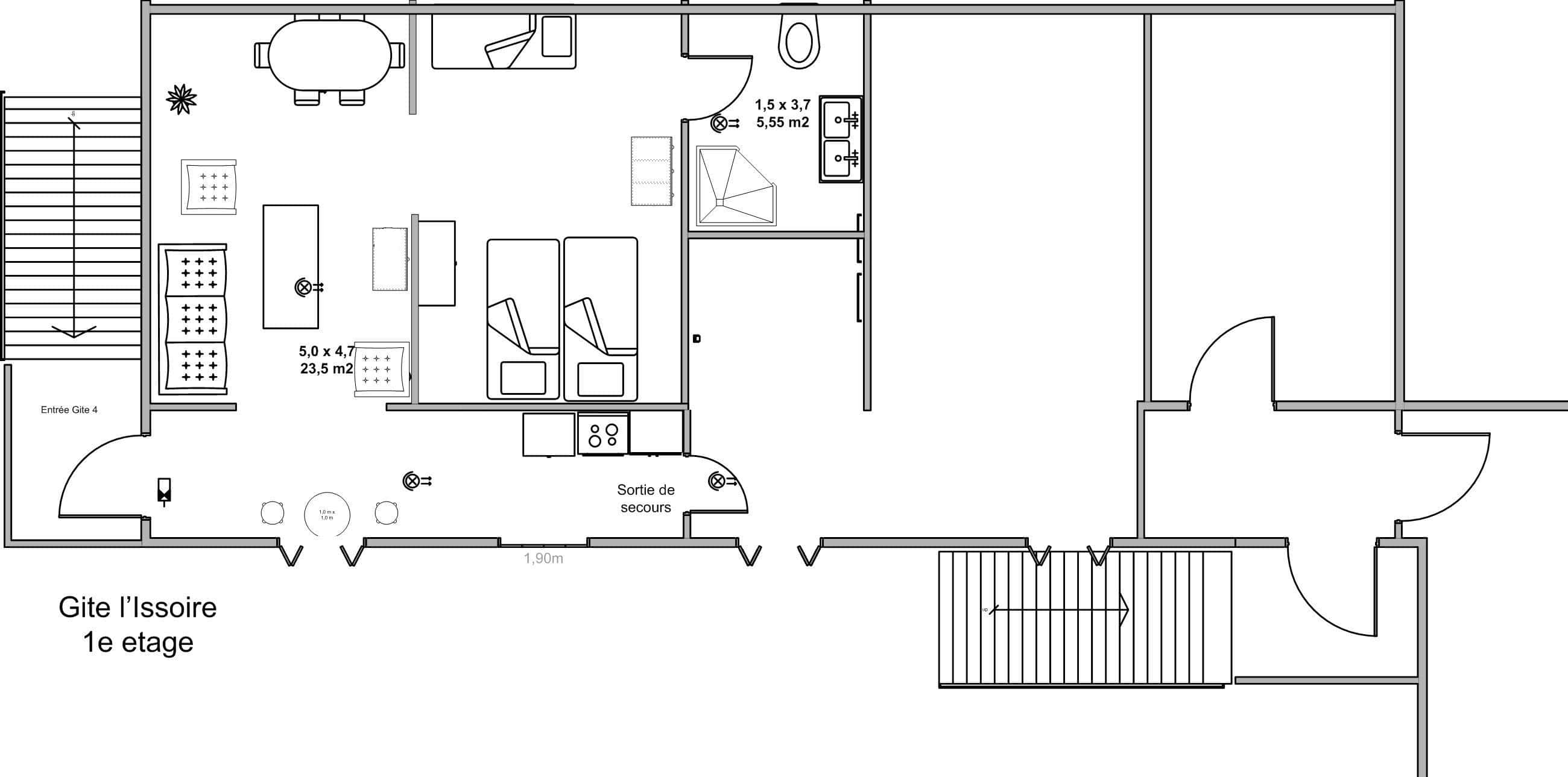 self-catering apartment private sanitary