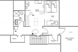 vakantie appartement (4 pers) met eigen sanitair